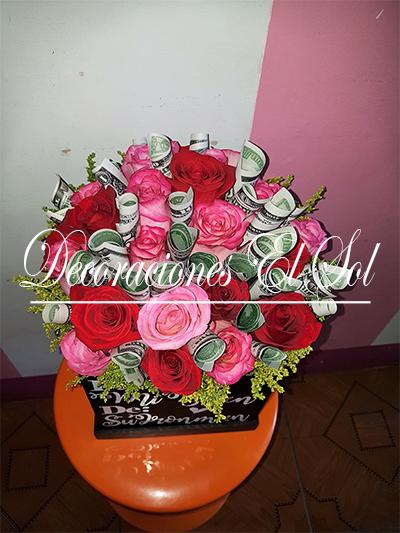 Arreglo Floral Soy Millonario Gracias A Ti