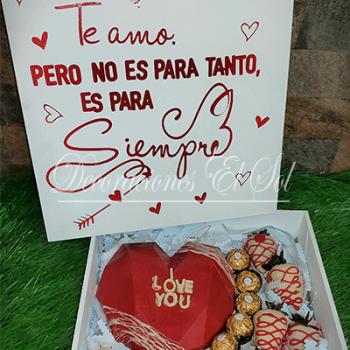 "San Valentín ""Corazón de chocolate"""
